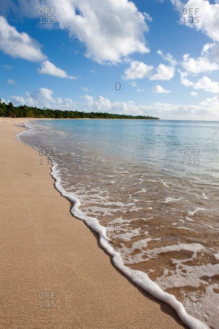 Waves Lap onto Shore, Tonga.