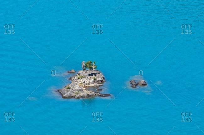 A rocky island in North Cascades National Park, Washington