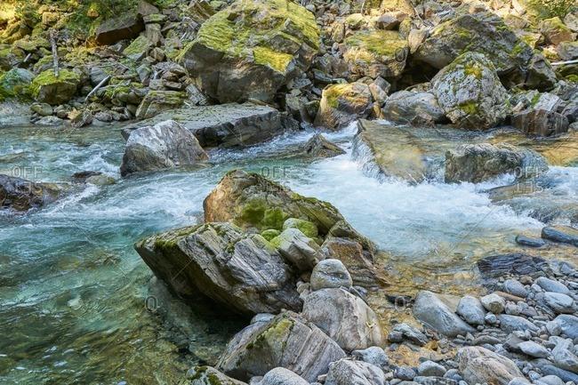Rocky stream in North Cascades National Park, Washington