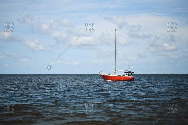 Sailboat off the Florida coast
