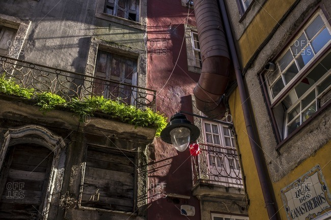Porto, Portugal - January 16, 2016: Typical buildings