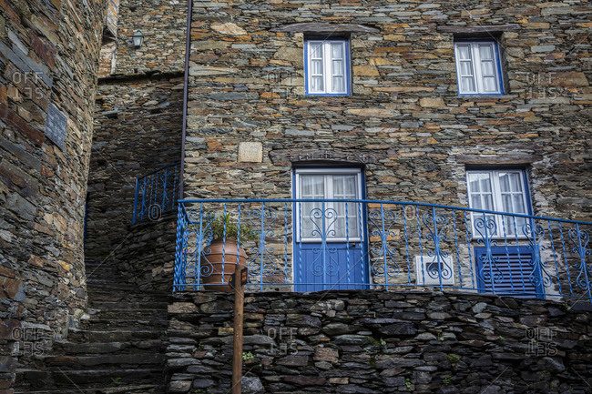 Piodao, Portugal - January 2, 2016: Stone house in historical village