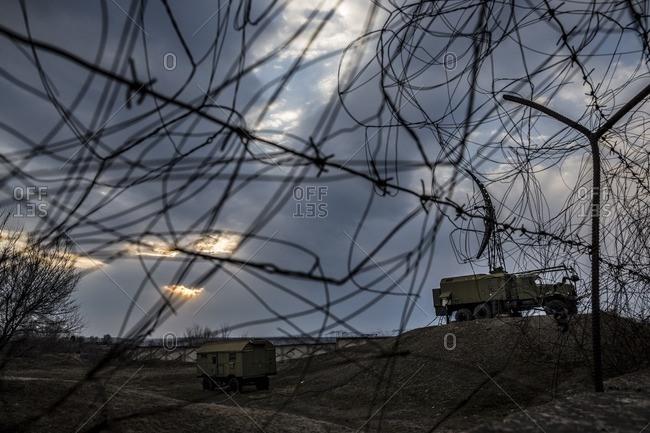 Tank in military base, Gyumri, Armenia