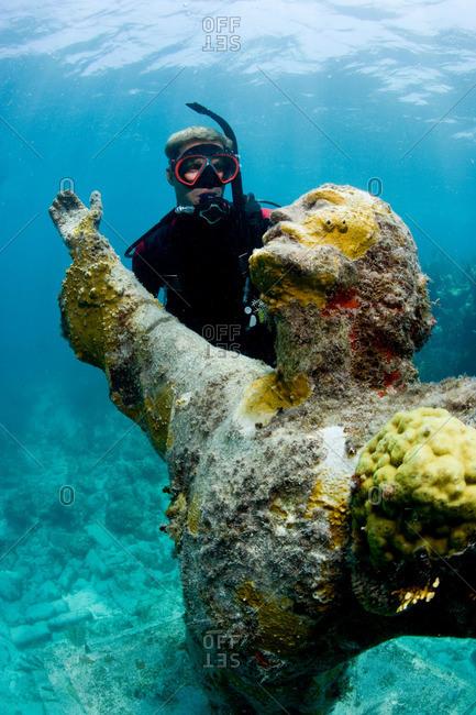Scuba diver at Christ Statue