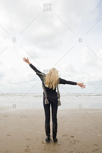 Woman at the coast