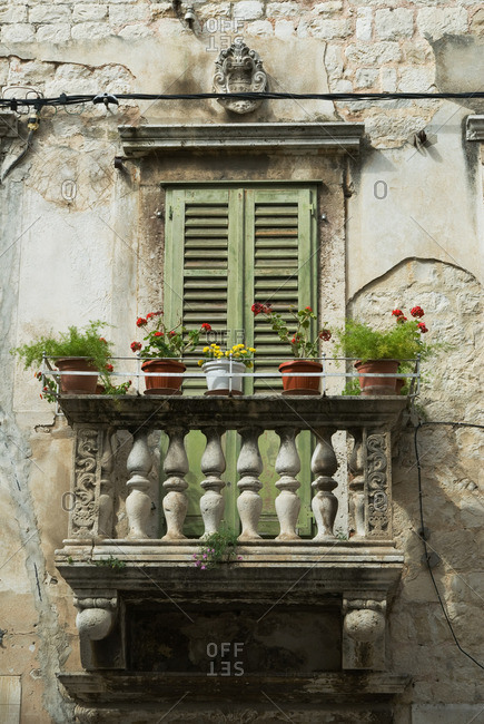 Balcony of diocletian palace split