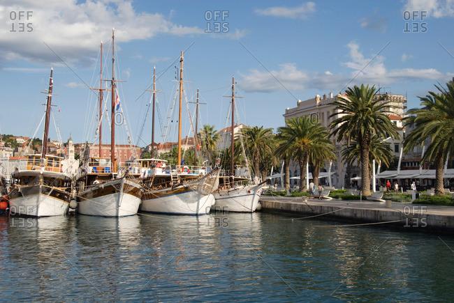 Croatia - Boats in split harbor Croatia