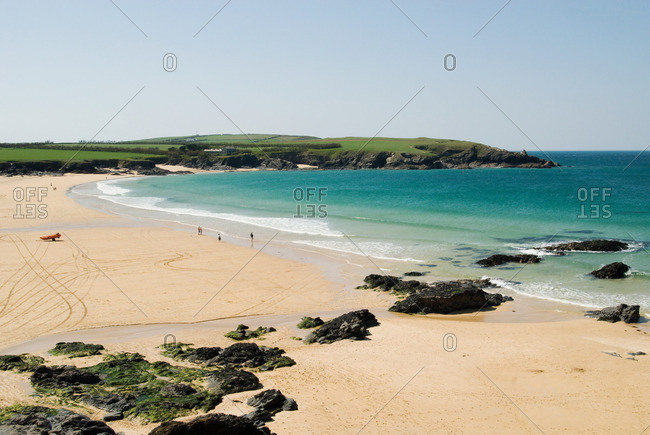 Harlyn bay in cornwall