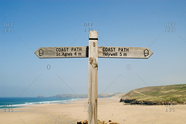 Signpost in cornwall