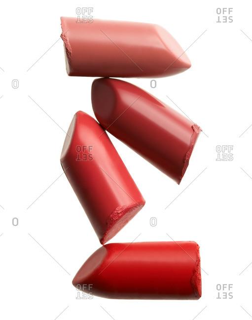 Four lipsticks