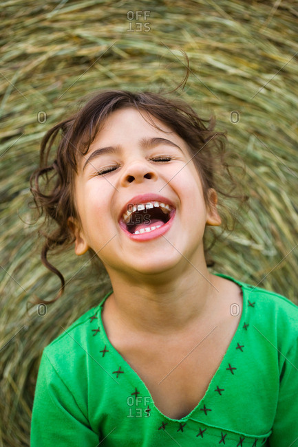 Portrait of a girl laughing