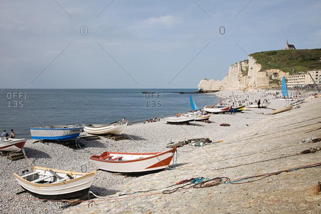 France - Beach and cliffs at etretat