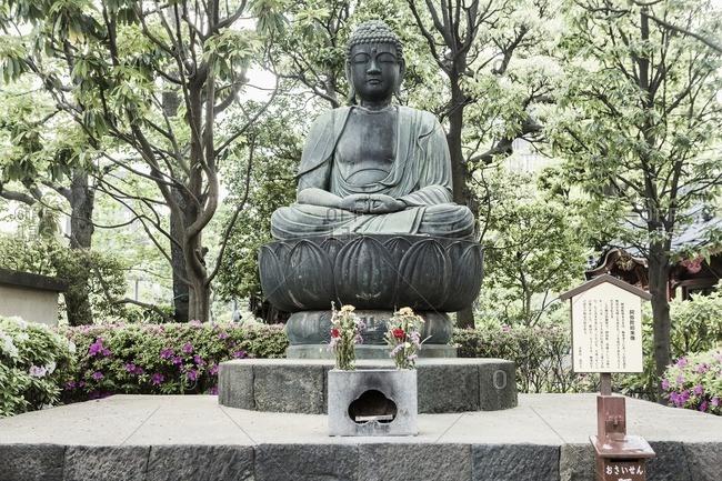 Asakusa, the Senso-Ji (Senso Temple), a Buddha statue in Tokyo, Japan