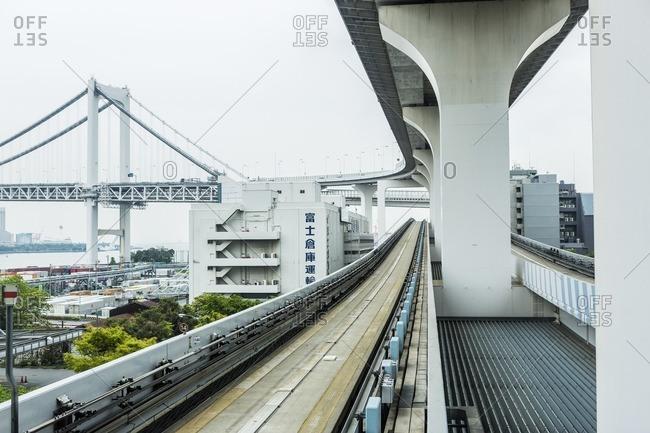 The Rainbow Bridge over Tokyo Bay, Tokyo, Japan