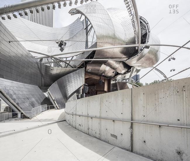 Chicago, Illinois - June 19, 2015: The Jay Pritzker Pavilion in Millennium Park