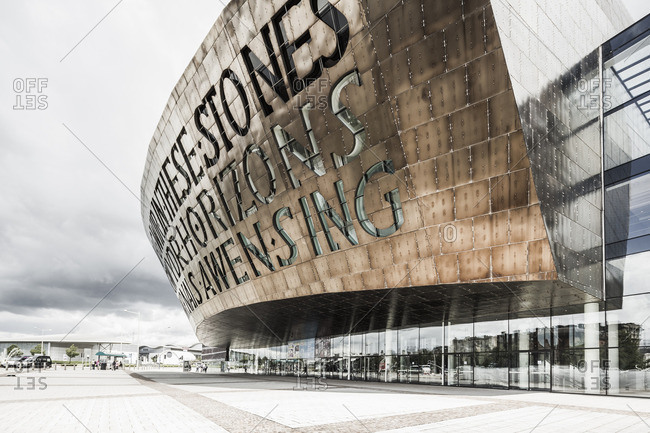 Cardiff Bay, Wales - July 8, 2014: The Wales Millennium Centre