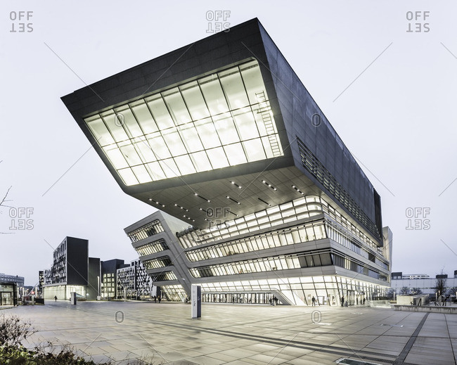 Vienna, Austria - December 17, 2015: University WU  (University of Economics and Business), Library & Learning Center