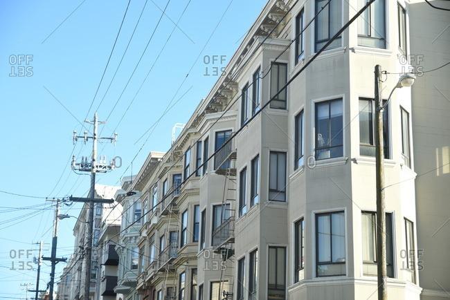 Apartment buildings in San Francisco, California