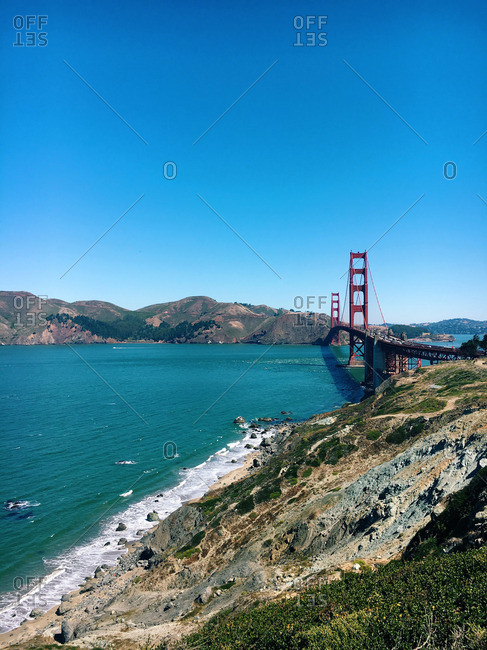 Golden Gate Bridge as seen from the Marin Headlands, San Francisco