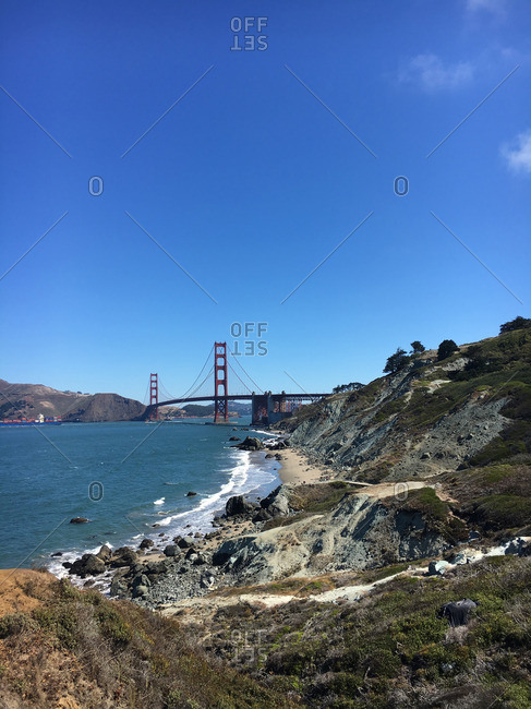 Hiking trails in Golden Gate National Recreation Area, California