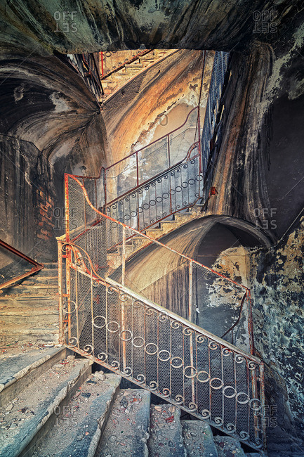 Staircase of an old factory