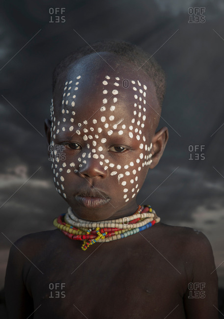 Young girl of the Karo Tribe, Omo Valley, Ethiopia