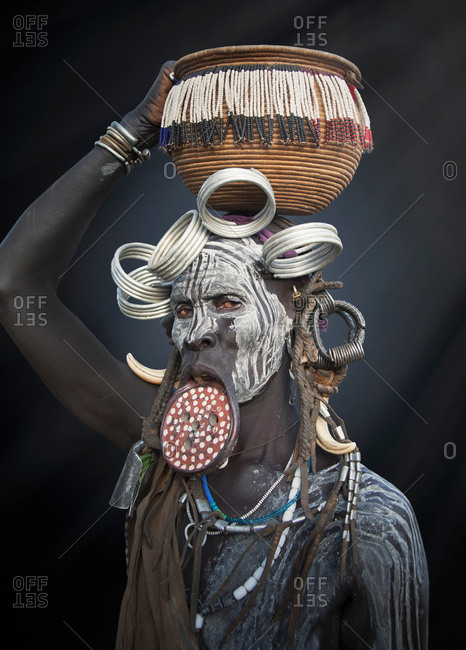 Woman of the Mursi Tribe, Omo Valley, Ethiopia