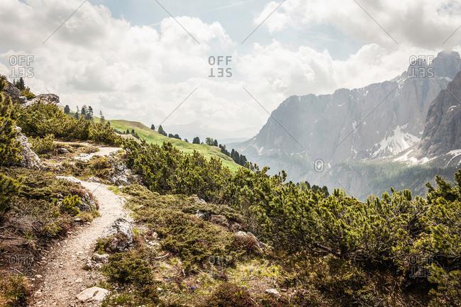 Dolomites; view on Sella group, Alta Badia, South Tyrol, Italy