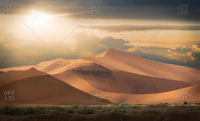 Giant sand dunes, Namib Desert, Namibia
