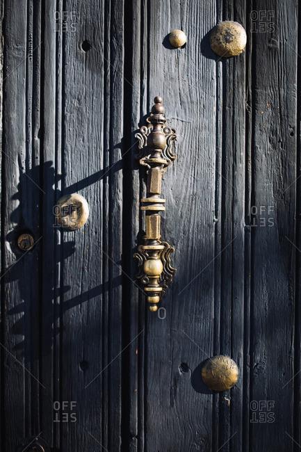 Close-up of a door in Oaxaca de Juarez, Mexico