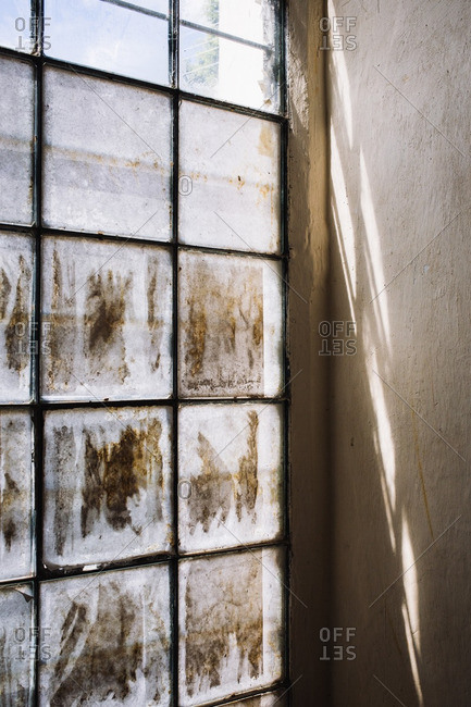 Dirty window in Oaxaca de Juarez, Mexico