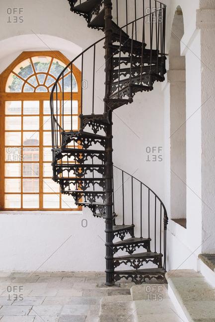 Spiral staircase in Oaxaca de Juarez, Mexico