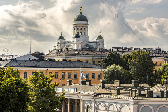 Finland, Helsinki, Old town, Helsinki Cathedral