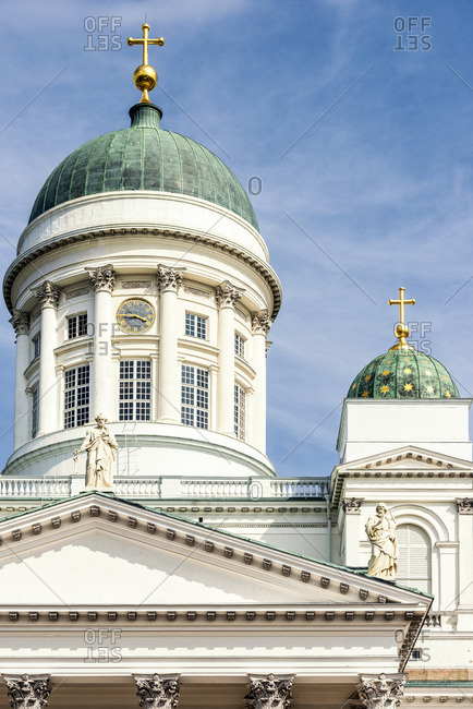 Finland, Helsinki, Helsinki Cathedral, cross,in,square church