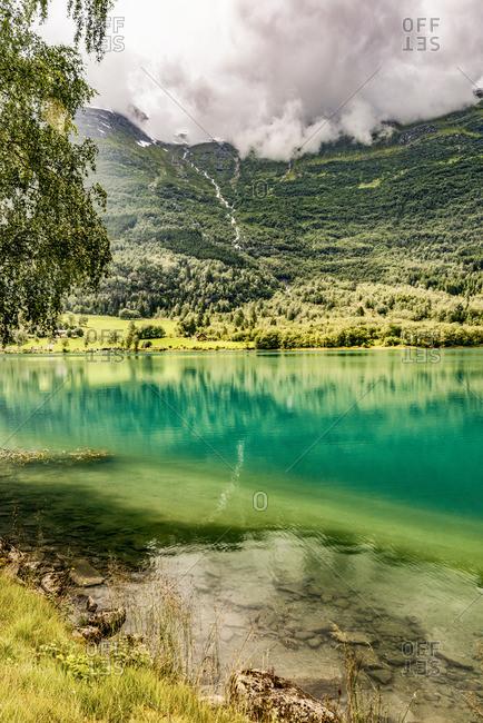 Norway, Sogn og Fjordane, Oldevatnet lake in Oldedal