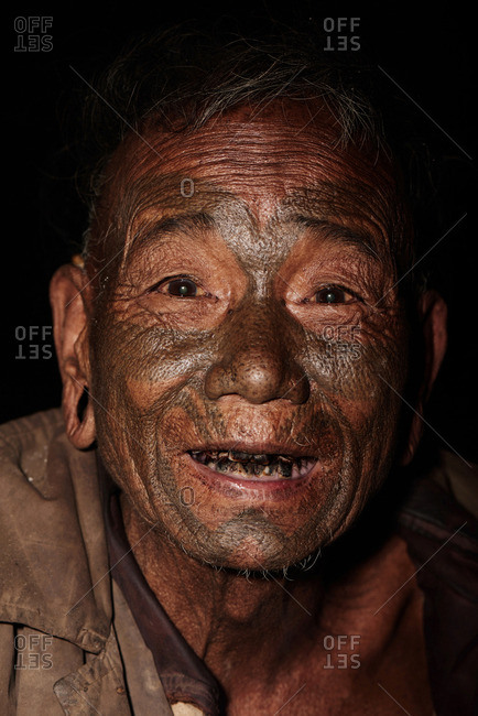 Nagaland, India - January 21, 2016: A smiling Konyak man