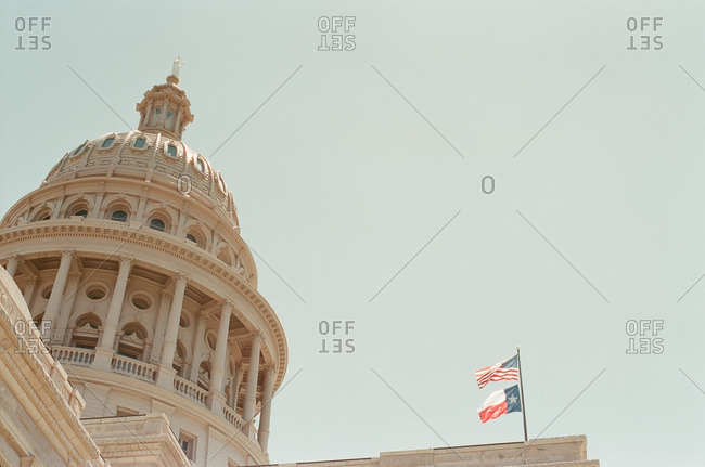 Dome of the state capitol building in Austin, Texas
