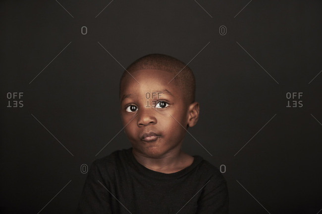 Portrait of a young African American boy