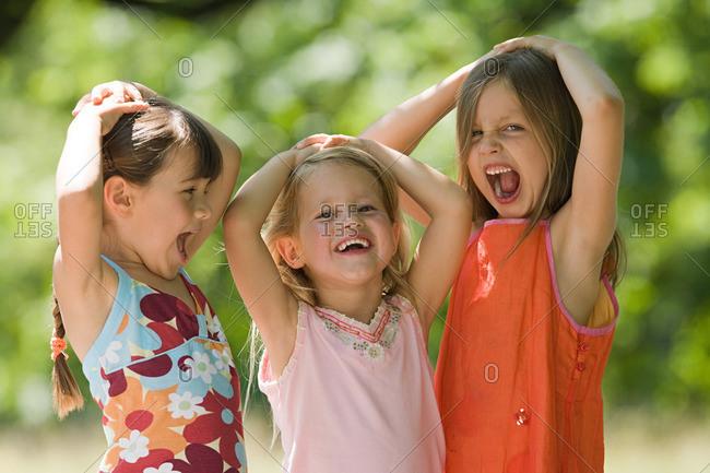 Girls shouting