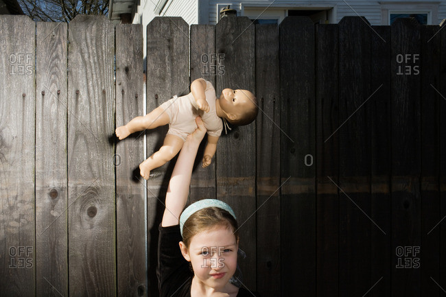 Girl with doll - Offset Collection