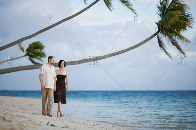 Couple on idyllic beach