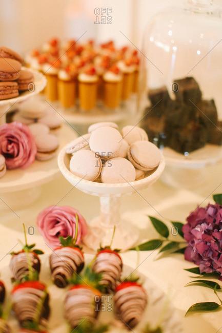 Various desserts for wedding