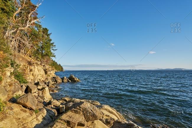 A shoreline in Washington state