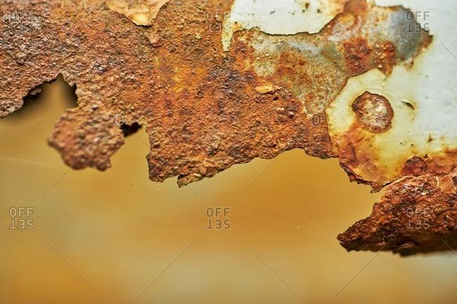 Close up of rusty metal