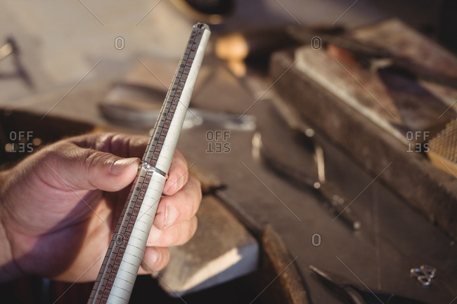 Ring maker measuring ring