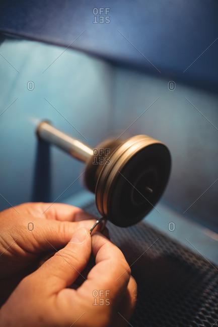 Ring maker polishing ring