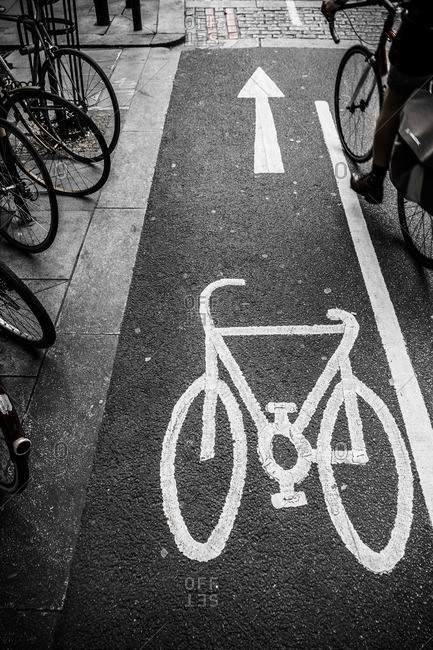 Bicycle route in London