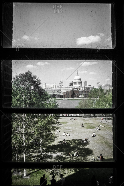 London, England - July 30, 2014: View of St. Paul's Cathedral from a window