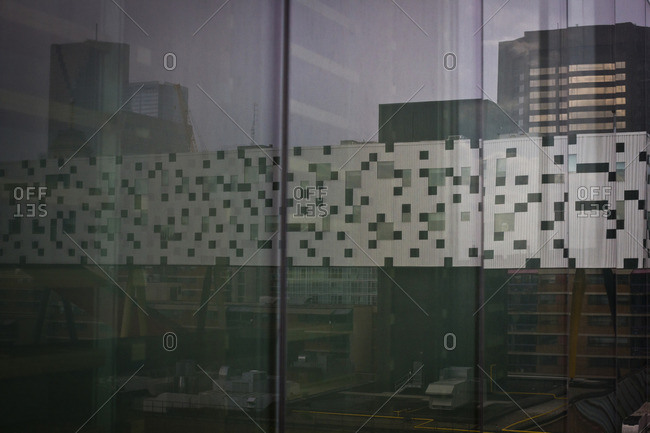 Toronto, Canada - June 26, 2013: Reflection of the Ontario College of Art and Design in Toronto, Canada