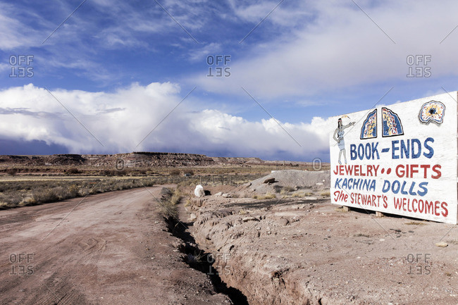 Holbrook, Arizona - February 2, 2012: Billboard near Route 66 in Holbrook, Arizona